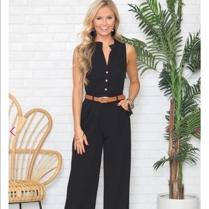 Pants - ✨NWT✨Black Belted Jumpsuit with Pockets